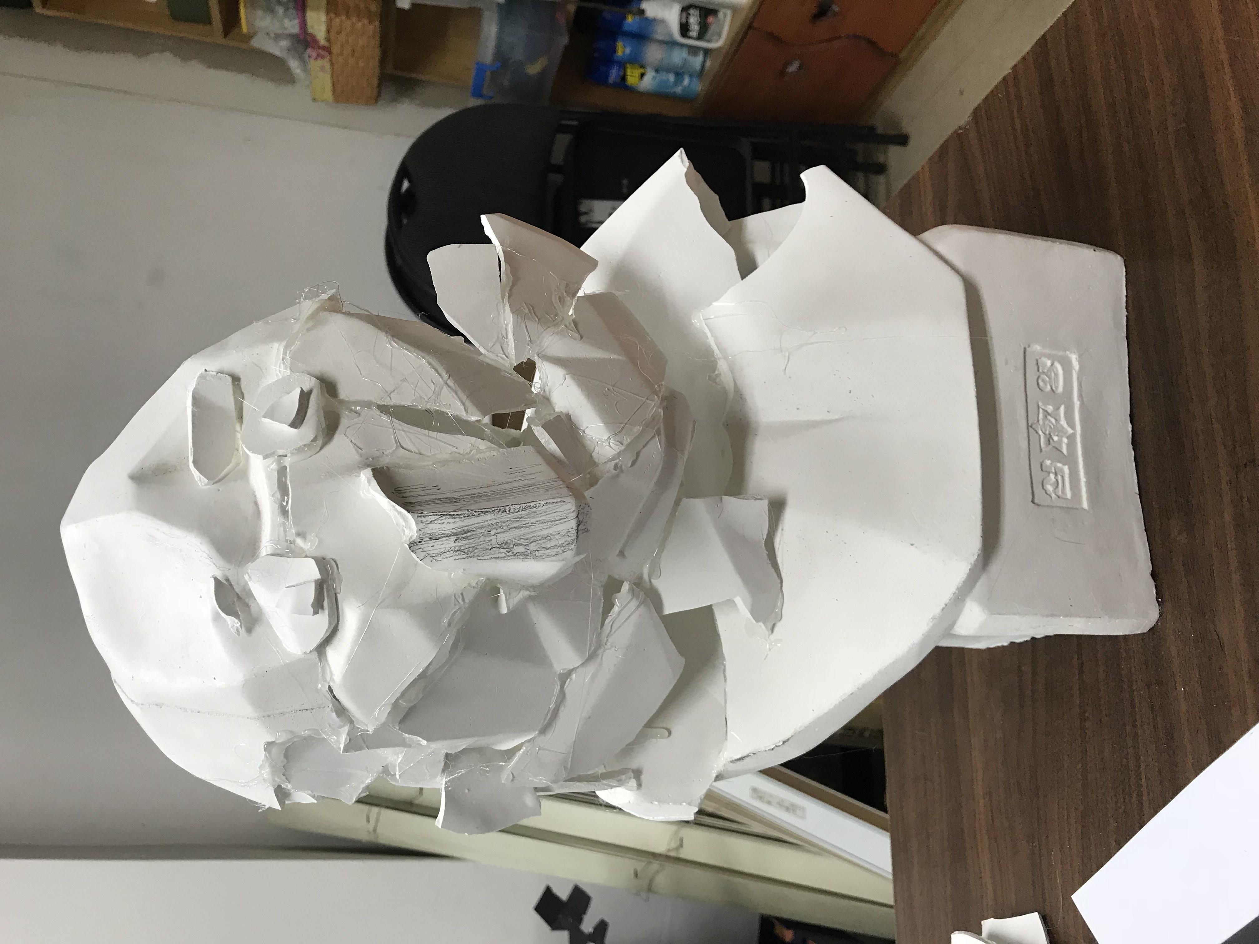아그리파 석고상 작업