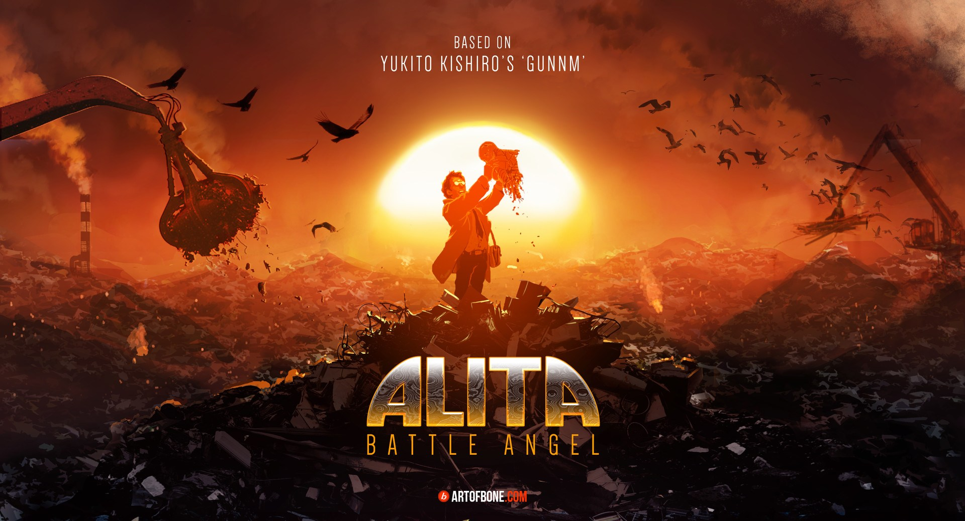 총몽 GUNNM = Alita: Battle Angel 예고편