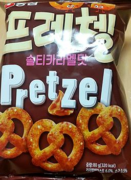 [농심]프레첼 솔티카라멜맛.