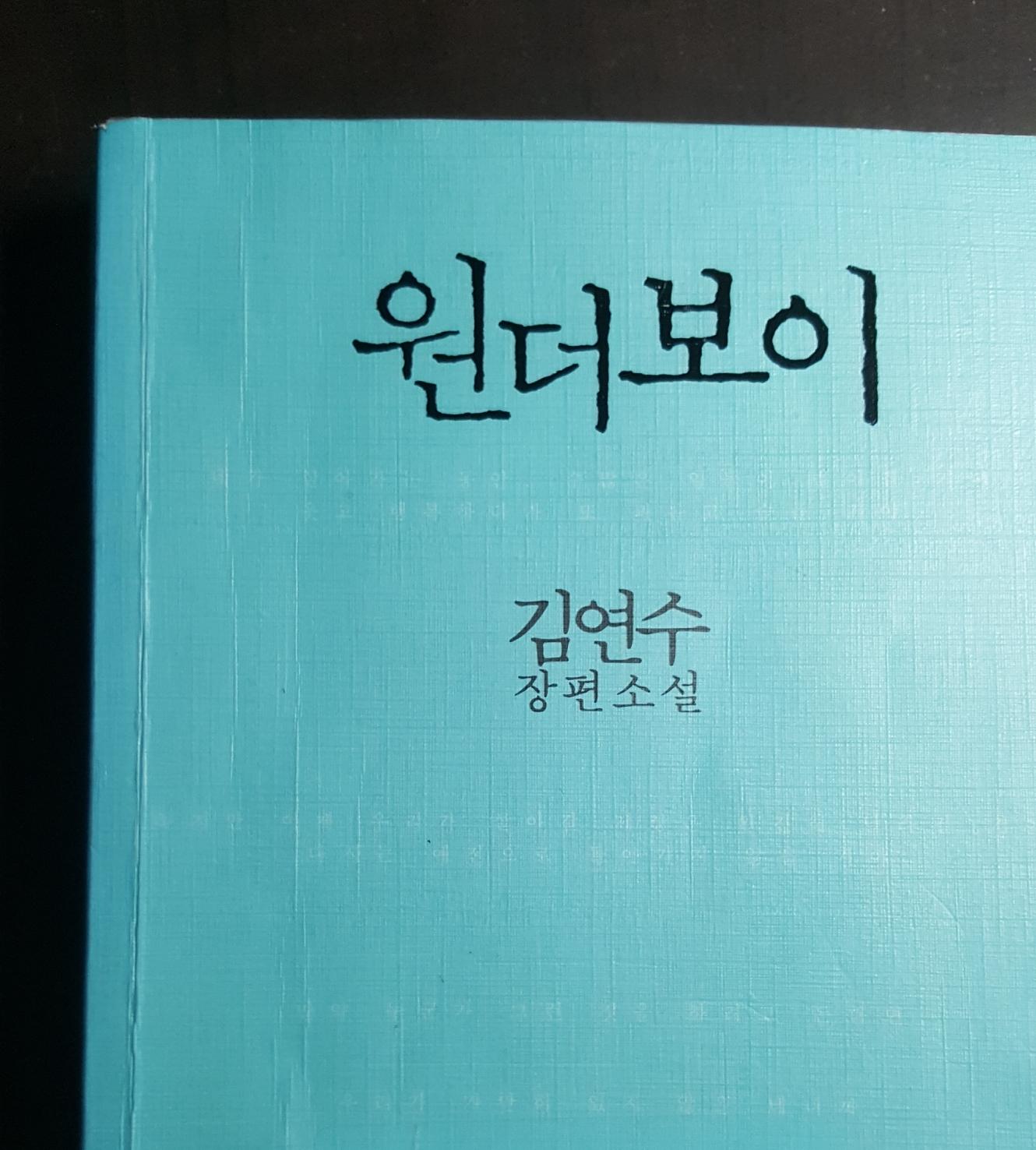 [책]원더보이 - 김연수