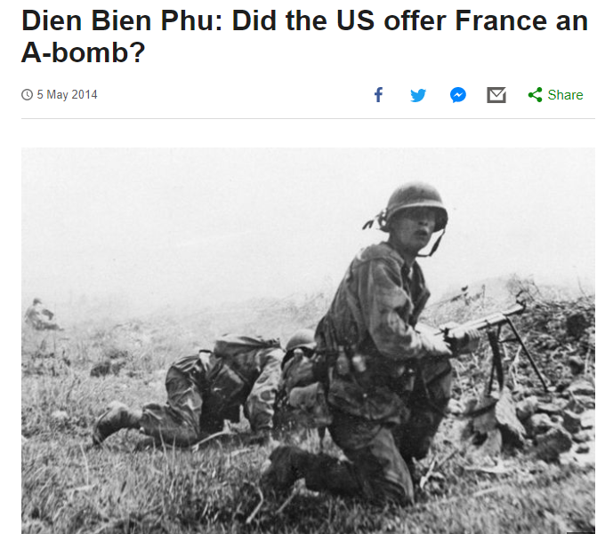 [디엔비엔푸]미국이 프랑스에게 핵무기를 제공했나?