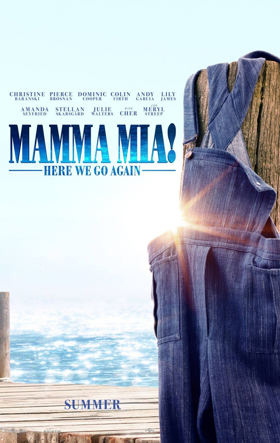 """Mamma Mia! Here We Go Again""이 나옵니다."