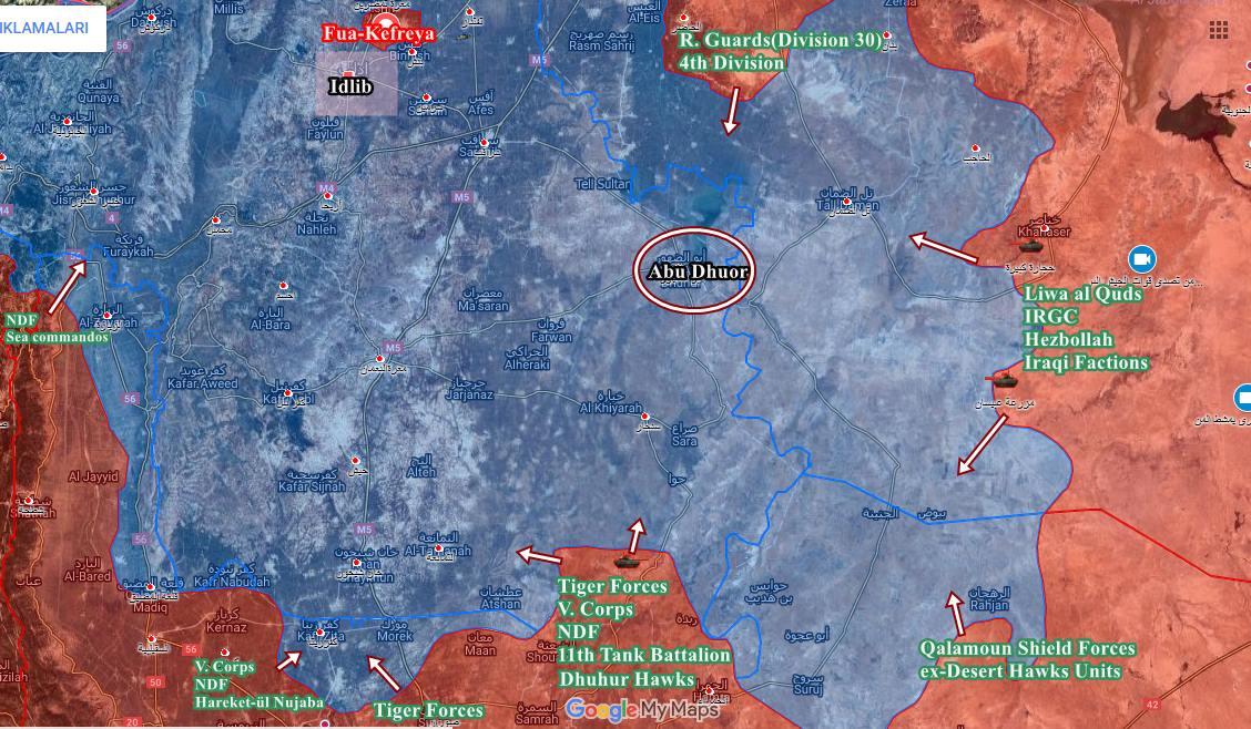 시리아 이들리브 아부 앗 두후르 공세 근황