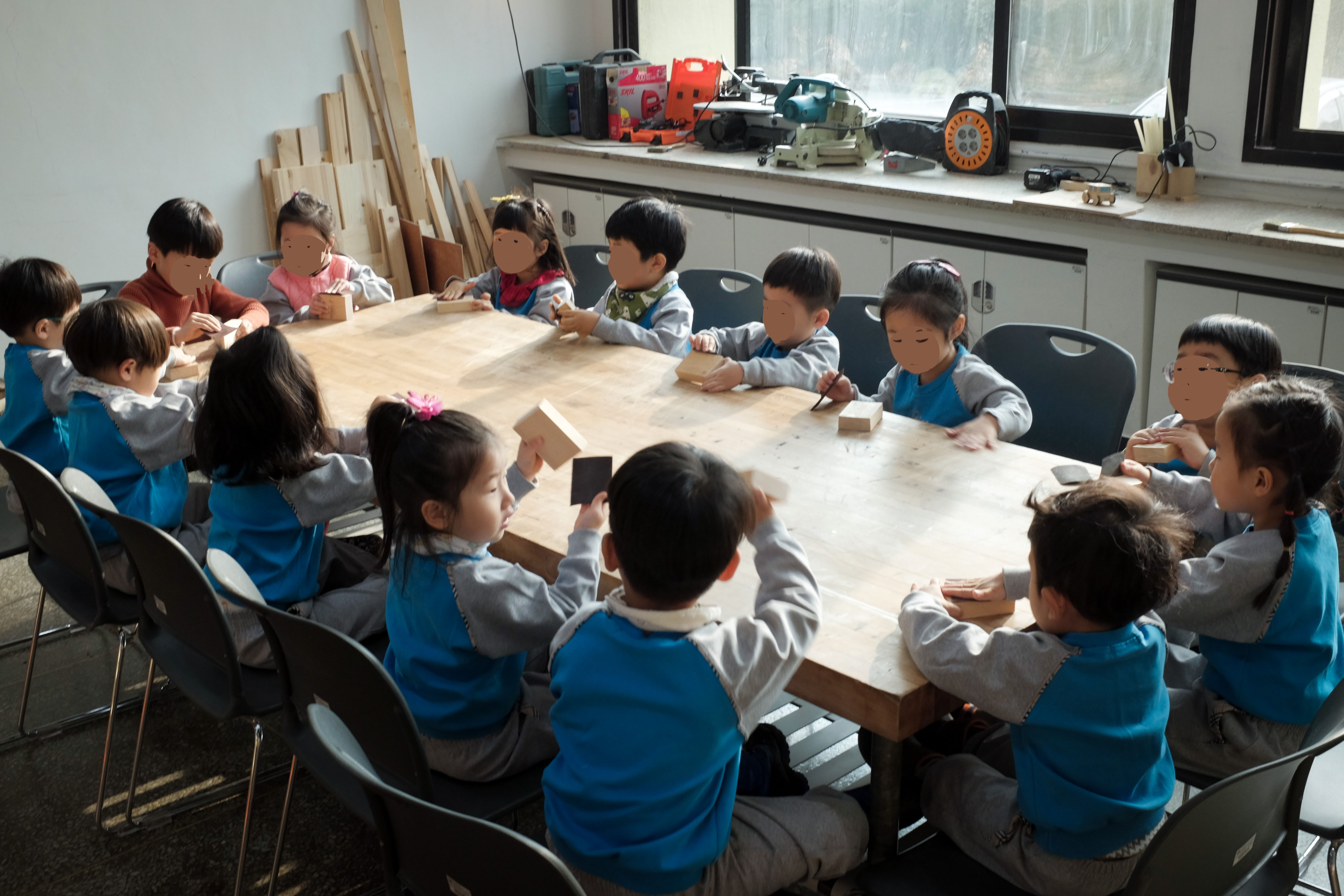 12월 어린이 단체체험 나무장난감 만들기 <두리..