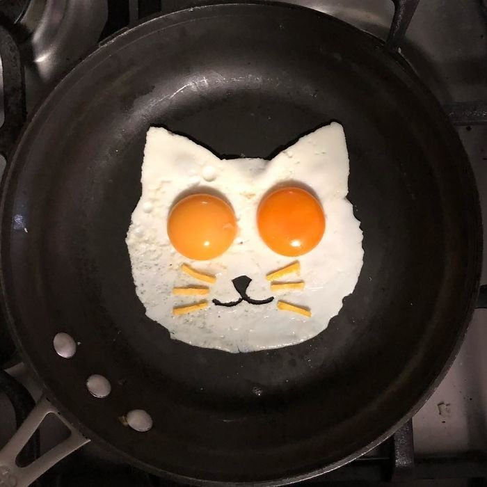 계란 후라이 아트.