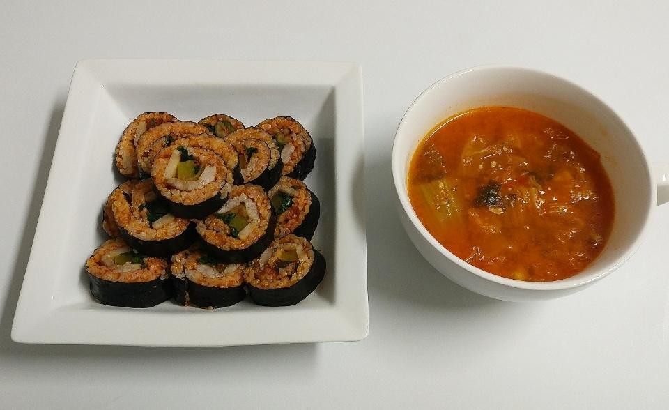 삼겹살김밥, 김치찌개