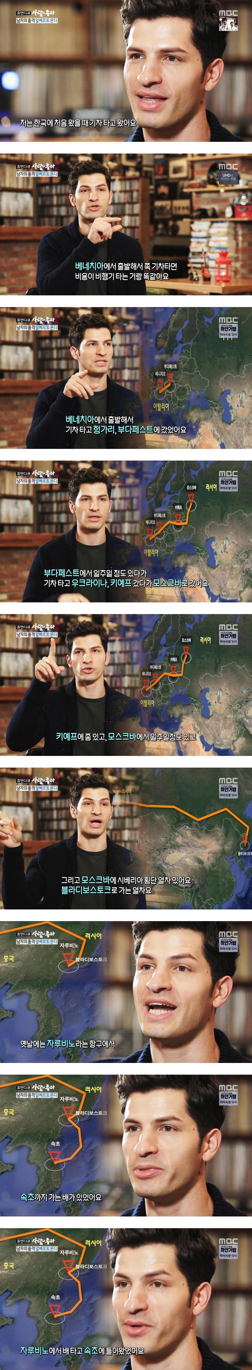 이탈리아에서 기차로 한국오는 방법!!!