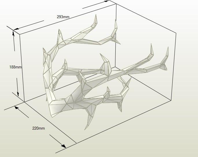 나뭇가지 왕관 페이퍼크래프트