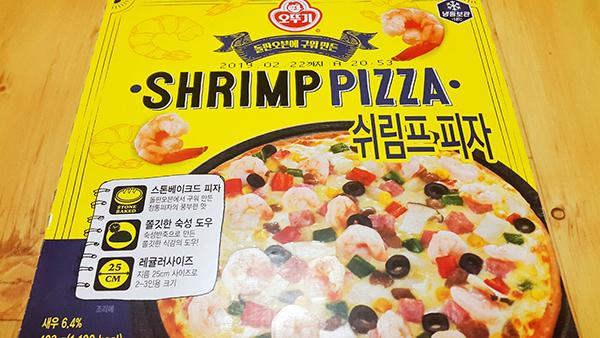 [오뚜기]SHRIMP PIZZA 쉬림프 피자.