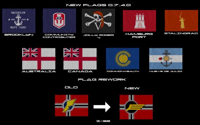 [WOWs] 0.7.4.0 에 추가된 깃발들