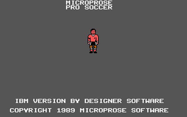[DOS] 마이크로프로즈 프로 사커(Microprose ..