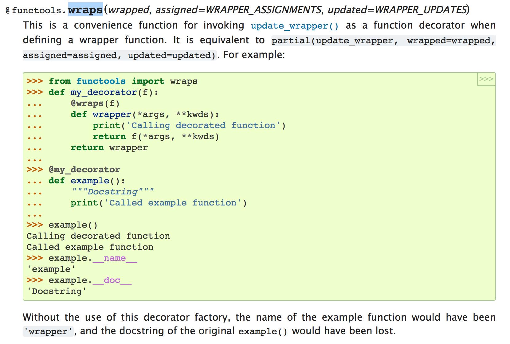 [Python] decorator를 이용한 함수의 doc str..