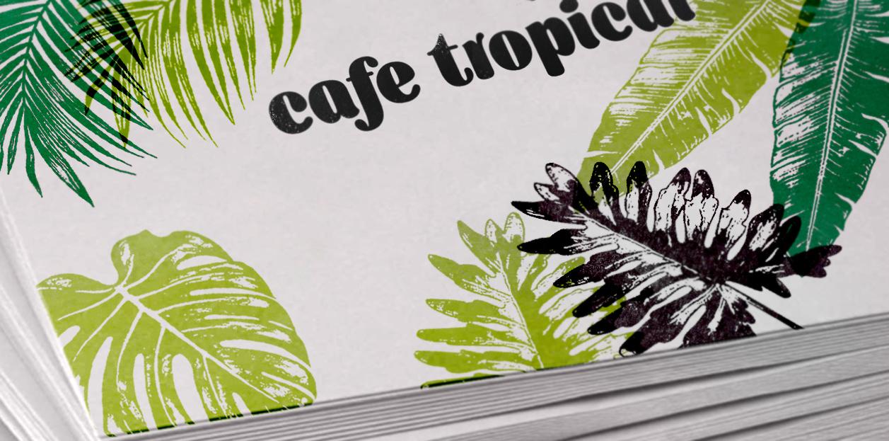 열대식물 스탬프