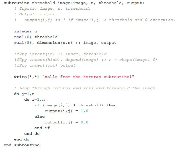 파이썬에서  포트란 프로그램 부르기