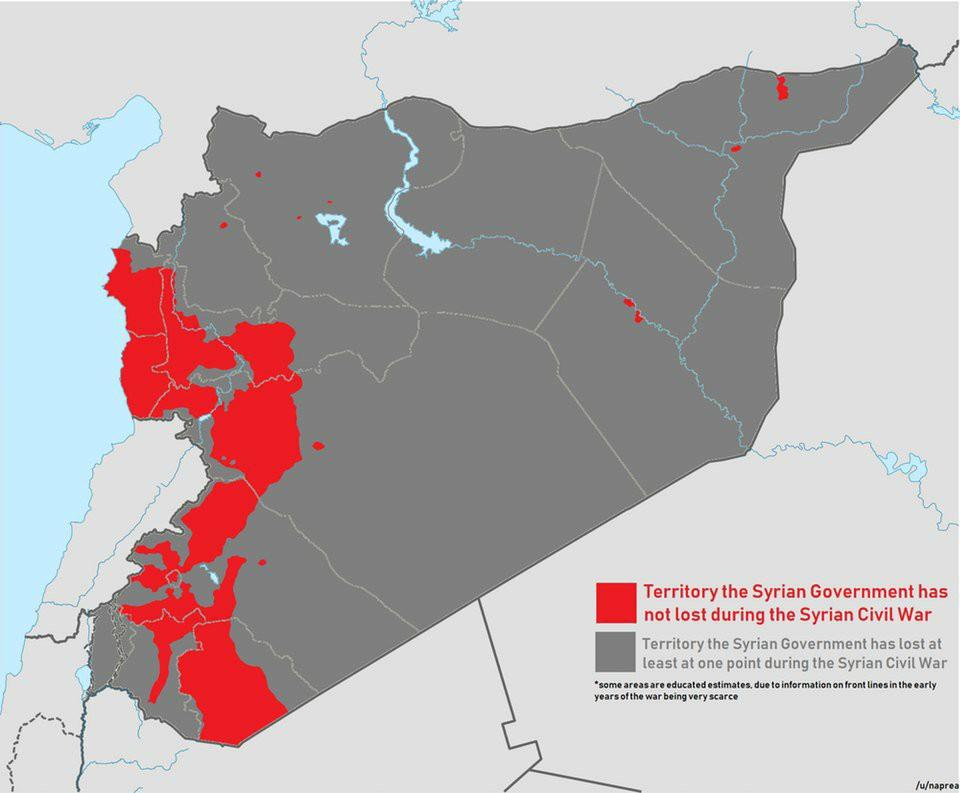 내전 동안 시리아 정부가 한번도 잃지 않은 지역