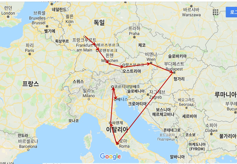 2018 유럽여행-동유럽 여행 코스