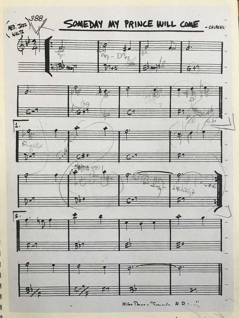[재즈피아노] Someday My Prince Will Come