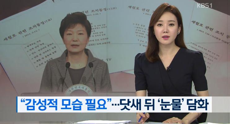 """""""박근혜 세월호 눈물연기는 기무사 각본"""""""