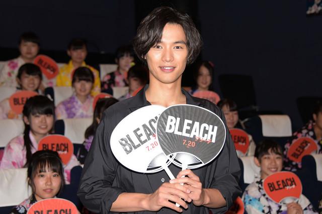 실사 영화 '블리치' 개봉 직전 이벤트가 개최된 모습