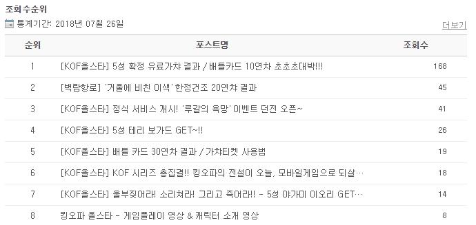 KOF 전문 블로그화 ^ㅁ^
