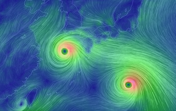 19호 태풍 `솔릭`과 20호 태풍 `시마론` 현재 위치