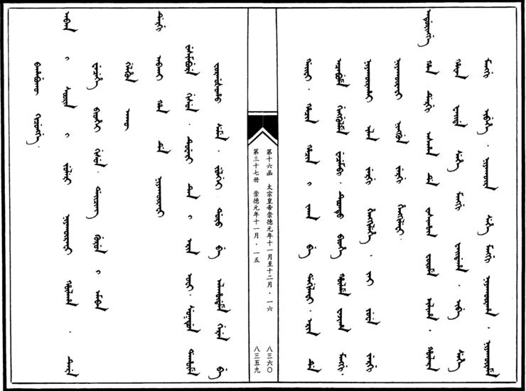 병자호란 만주어 만문노당 8부-신(臣) 홍 타이지..
